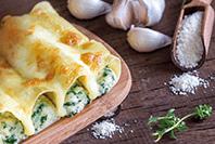 makaron cannelloni z farszem z kremowymi serkami hochland tercett