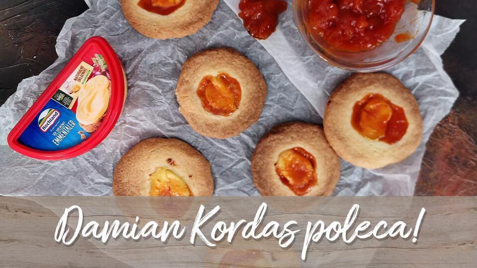 Ciasteczka z dziurką nadziewane Serem kremowym Hochland i konfiturą z dzikiej róży